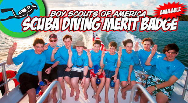Scuba Diving Merit Badge at Deep Blue Swim Long Beach, CA.