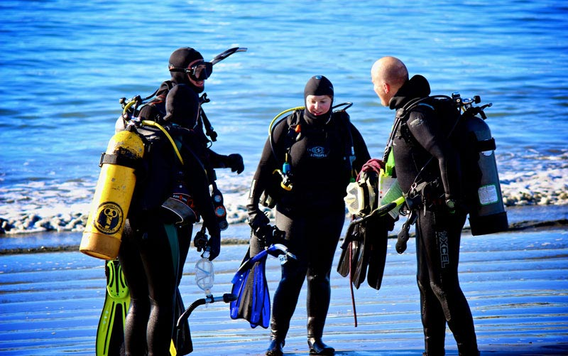 deep blue dive master training